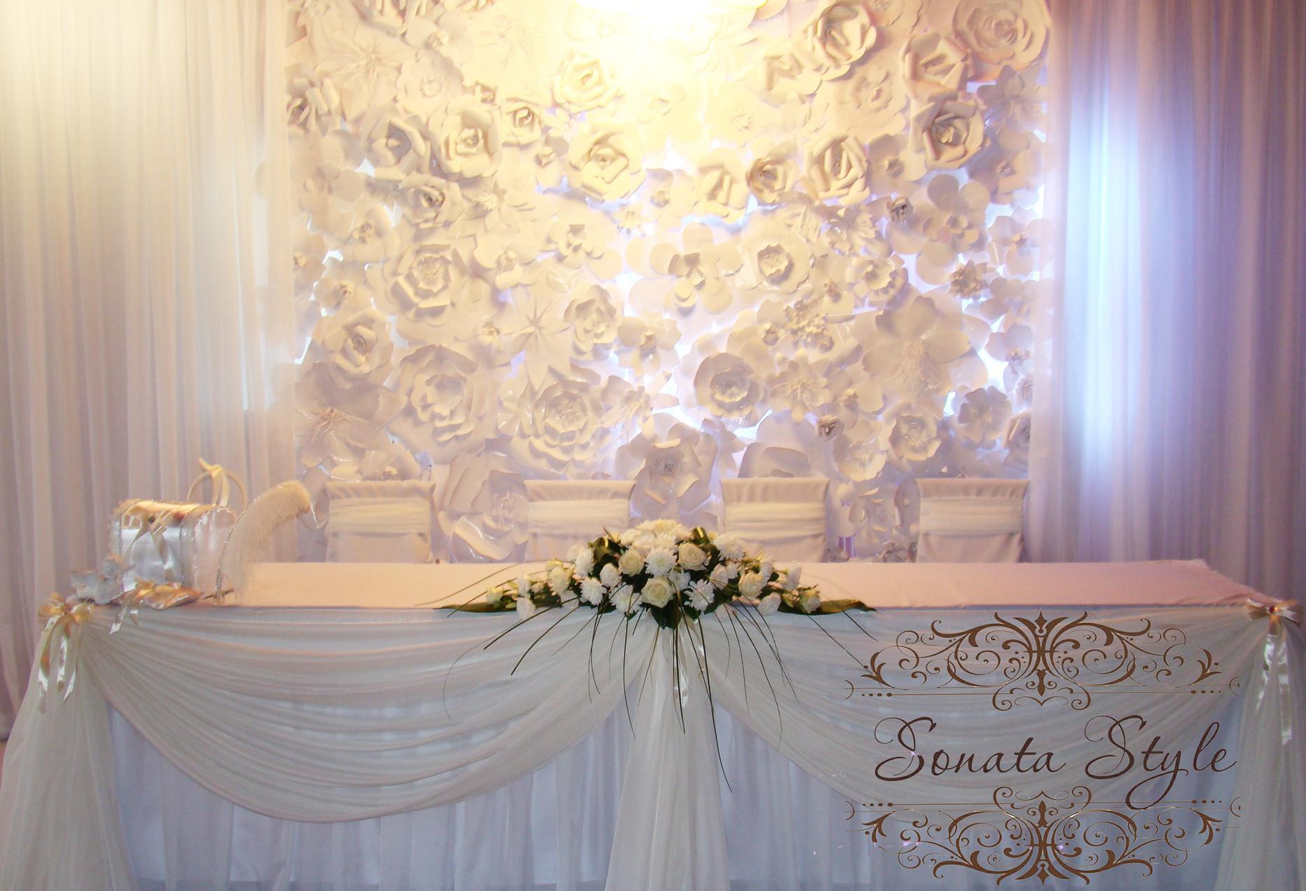 Оформляем свадьбу стильными бумажными цветами 59